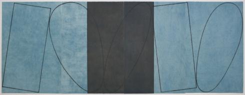 Robert Mangold, Varied Figure Zone (4-part), 2000