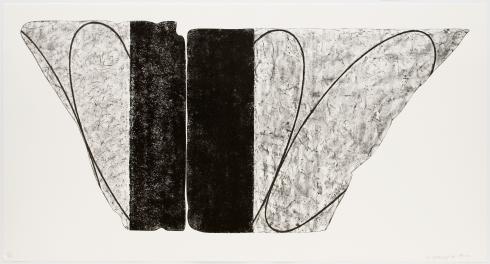 Robert Mangold, Untitled Large Fragment (B&W State), 2000