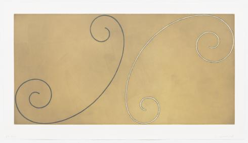 Robert Mangold, Double-Curled Figure, 2002