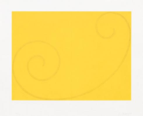 Robert Mangold, Yellow Curled Figure, 2002