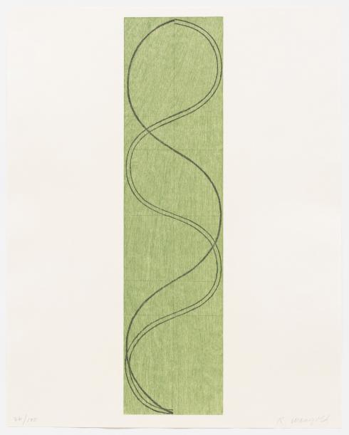 Robert Mangold, Green Column / Figure, 2003