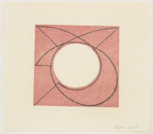 Robert Mangold, Untitled Greeting Card, 2010