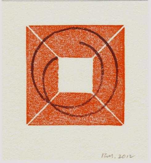 Robert Mangold, Untitled Greeting Card, 2012