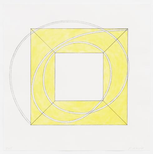 Robert Mangold, Framed Square with Open Center A, 2013