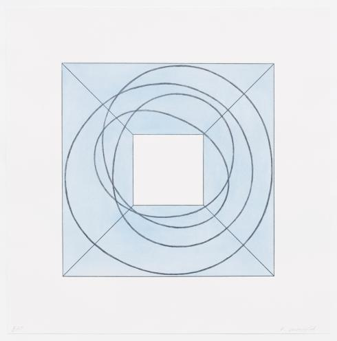 Robert Mangold, Framed Square with Open Center B, 2013