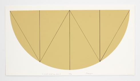 Robert Mangold, 1/2 Manilla Curved Area Series W, 1968