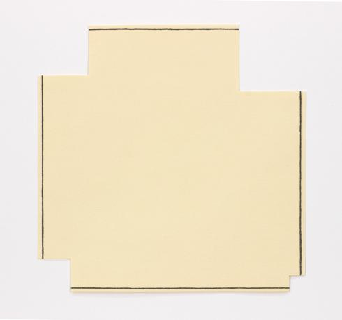 Robert Mangold, A Square with Four Squares Cut Away, 1976