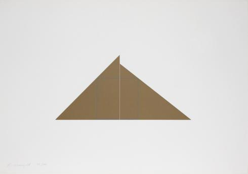 Robert Mangold, A Square within Two Triangles, 1977