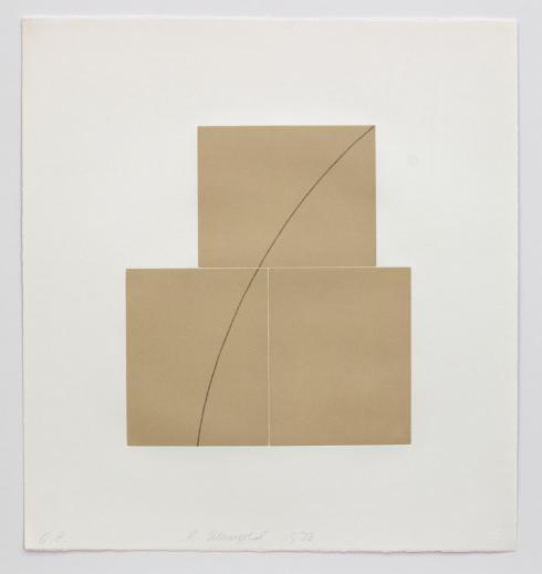 Robert Mangold, Untitled Aquatint, 1978