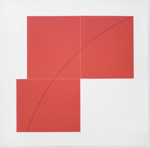 Robert Mangold, A Red, from Three Aquatints, 1979