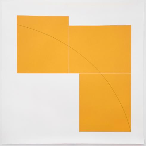 Robert Mangold, B Orange, from Three Aquatints, 1979