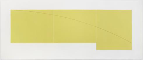 Robert Mangold, C Yellow, from Three Aquatints, 1979