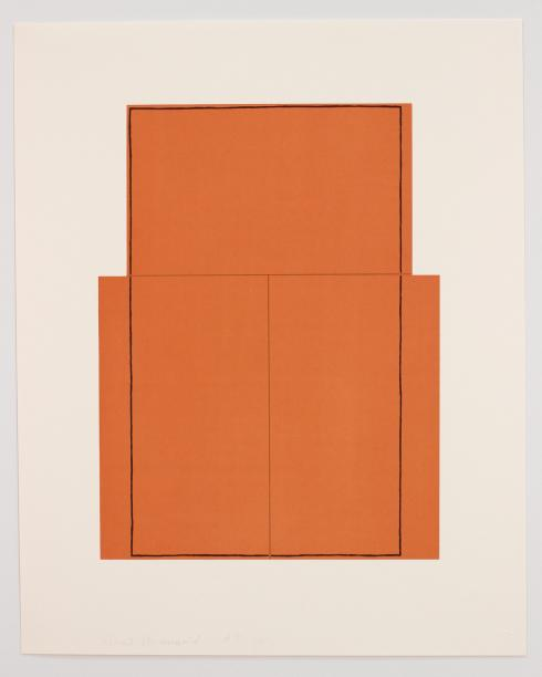 Robert Mangold, Rectangle within Three Rectangles (Orange), 1980