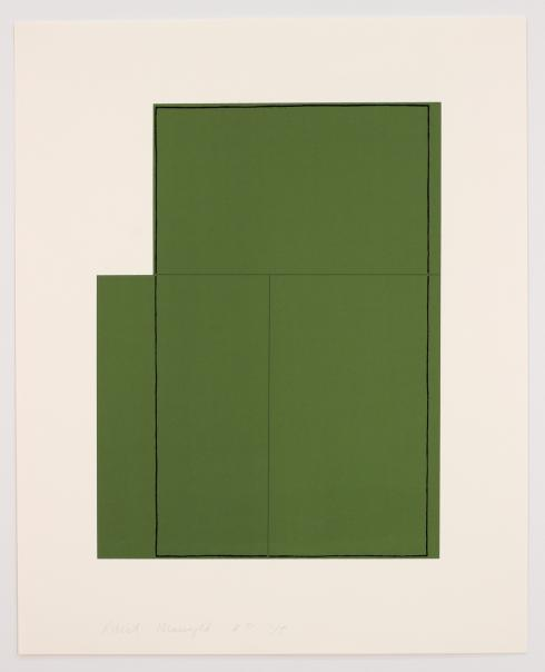 Robert Mangold, Rectangle within Three Rectangles (Green), 1980