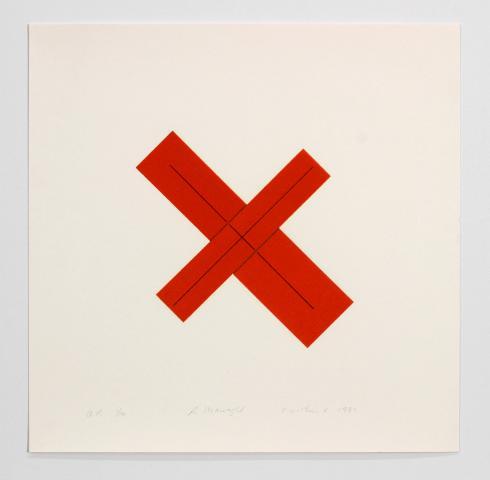Robert Mangold, X within X, 1981