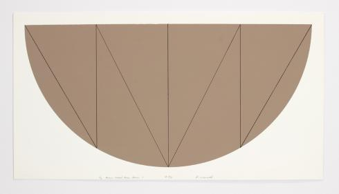 Robert Mangold, 1/2 Brown Curved Area Series V, 1968