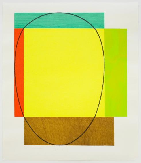 Robert Mangold, Five Color Frame, 1985