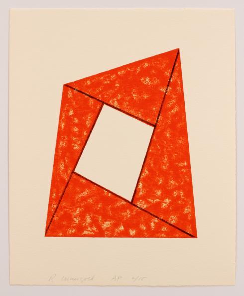 Robert Mangold, Orange Frame, 1988