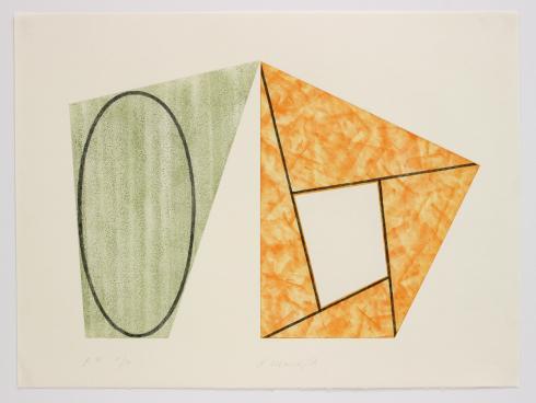 Robert Mangold, B, from Frames & Ellipses, 1988