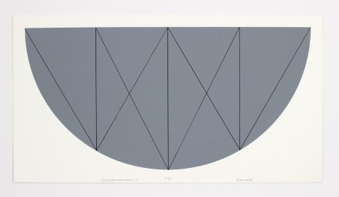 Robert Mangold, 1/2 Gray Curved Area Series X, 1968