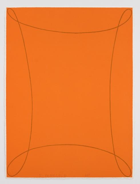 """Robert Mangold, Arabesque I [From """"COLUMBUS"""" in Search of a New Tomorrow], 1992"""