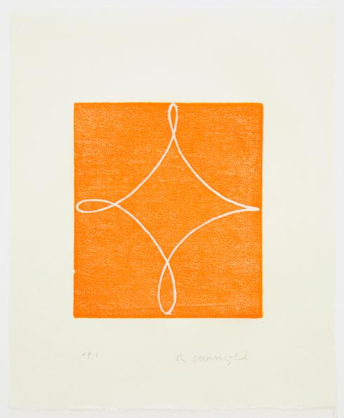 Robert Mangold, A [Orange], 1994