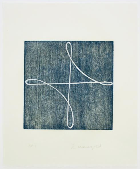 Robert Mangold, B [Prussian Blue], 1994