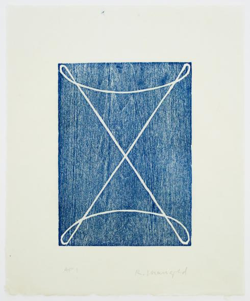 Robert Mangold, D [Royal Blue], 1994