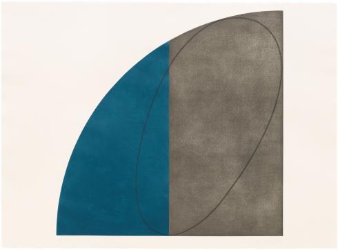Robert Mangold, Curved Plane / Figure I, 1995