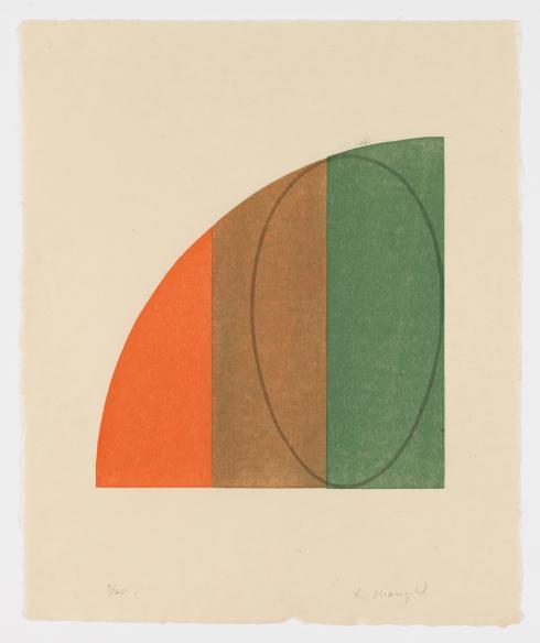 Robert Mangold, Curved Plane / Figure III, 1995