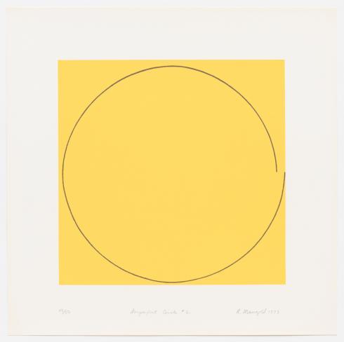 Robert Mangold, Imperfect Circle No. 2 (Yellow), 1973