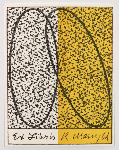 Robert Mangold, Untitled, NYPL Ex Libris, 1996