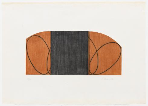 Robert Mangold, Brown/Black Zone, 1997