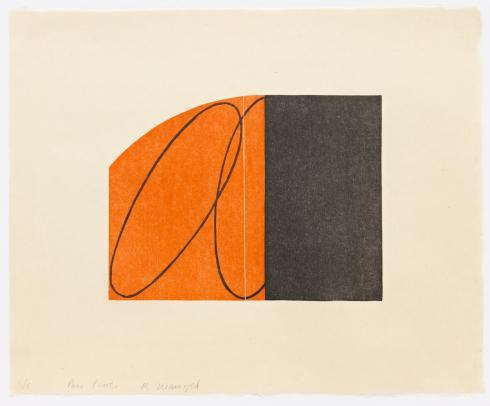 Robert Mangold, Orange/Black Zone, 1997