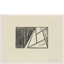Robert Mangold, D, from Seven Original Woodcuts, 2000