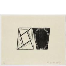 Robert Mangold, E, from Seven Original Woodcuts, 2000