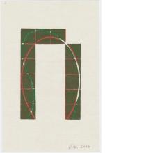 Robert Mangold, Untitled Greeting Card, 2006