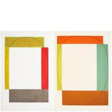 Robert Mangold, Two Aquatints (Frames), 1985