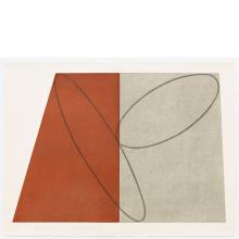 Robert Mangold, I, from Plane / Figure Series, Folded, 1993