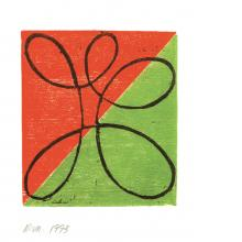 Robert Mangold, Untitled Greeting Card, 1993