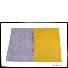Robert Mangold, Untitled [GM/RM 1-94 W-7], from Drawing With Monotype Background, 1994