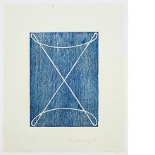 Robert Mangold, D [Royal Blue], 1994