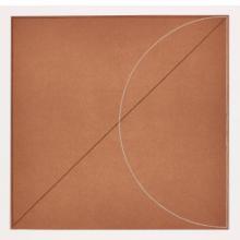 Robert Mangold, B, from Five Aquatints, 1975